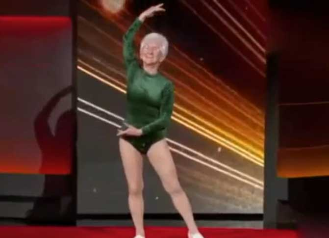 91岁的德国人约翰娜世界上年龄最大体操运动员