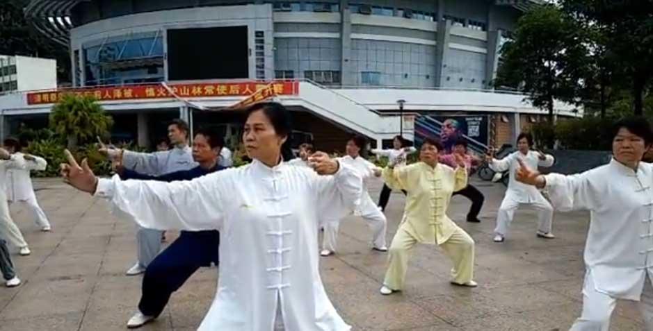 练习八段锦(芳山队)(红叶录制)