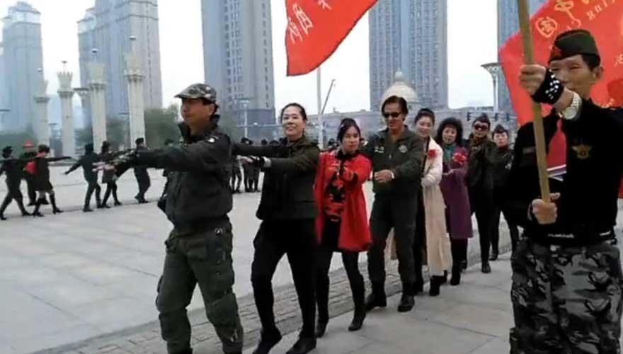 《喜迎十九大,畅想中国梦》广场水兵舞展演