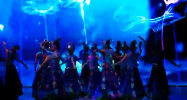 现场实拍大型歌舞《水姑娘》